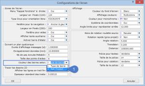 Configuration écran
