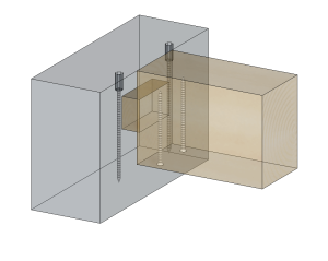 Tenon-mortaise avec système anti-fendage