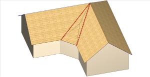 Correction de l'inclinaison - Bâtiment en L
