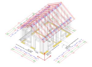 Charpente construction - coloré
