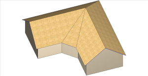 Raccord correct - bâtiment en L