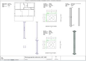 Plan de groupe de construction