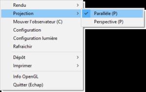 Projection parallèle